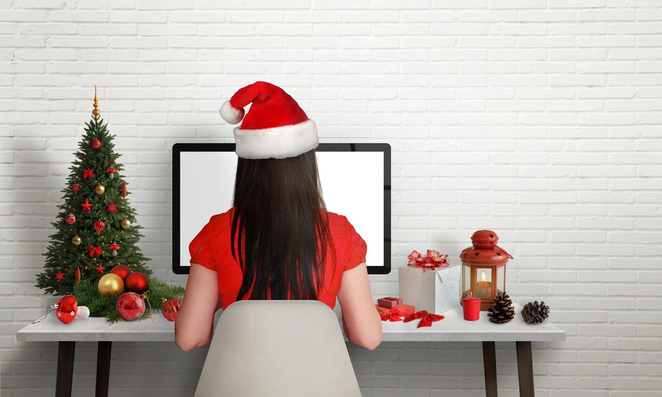 Geschäftliche Weihnachtskarte